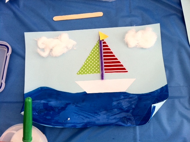 "Boat craft for ""B"" week or Transportation week."