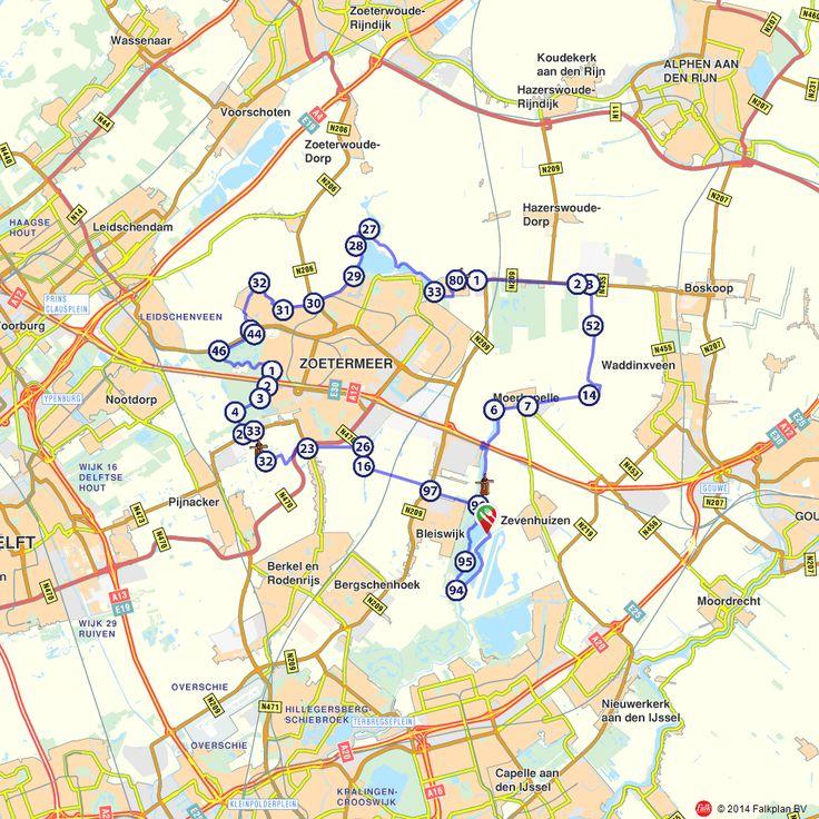 Fietsroute: Zevenhuizen, Moerkapelle en Zoetermeer  (http://www.route.nl/fietsroutes/121880/Zevenhuizen-Moerkapelle-en-Zoetermeer/)