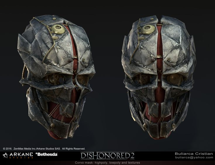 ArtStation - Dishonored 2 - Corvo Mask, Cristian-Marius Buliarca