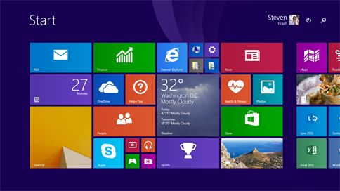 Upgrading Windows 8 to 8.1.  More user friendly for laptops/keyboard users.