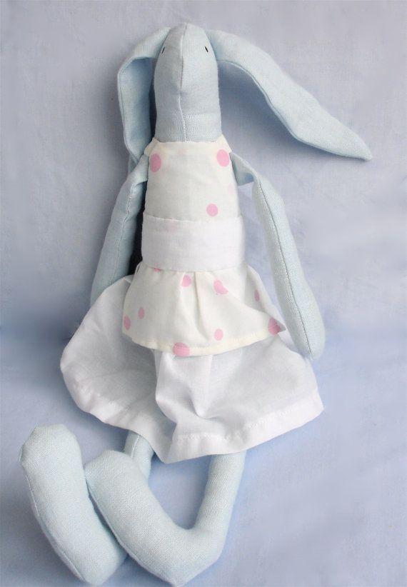 Blue bunny by Hipolita on Etsy, $23.00