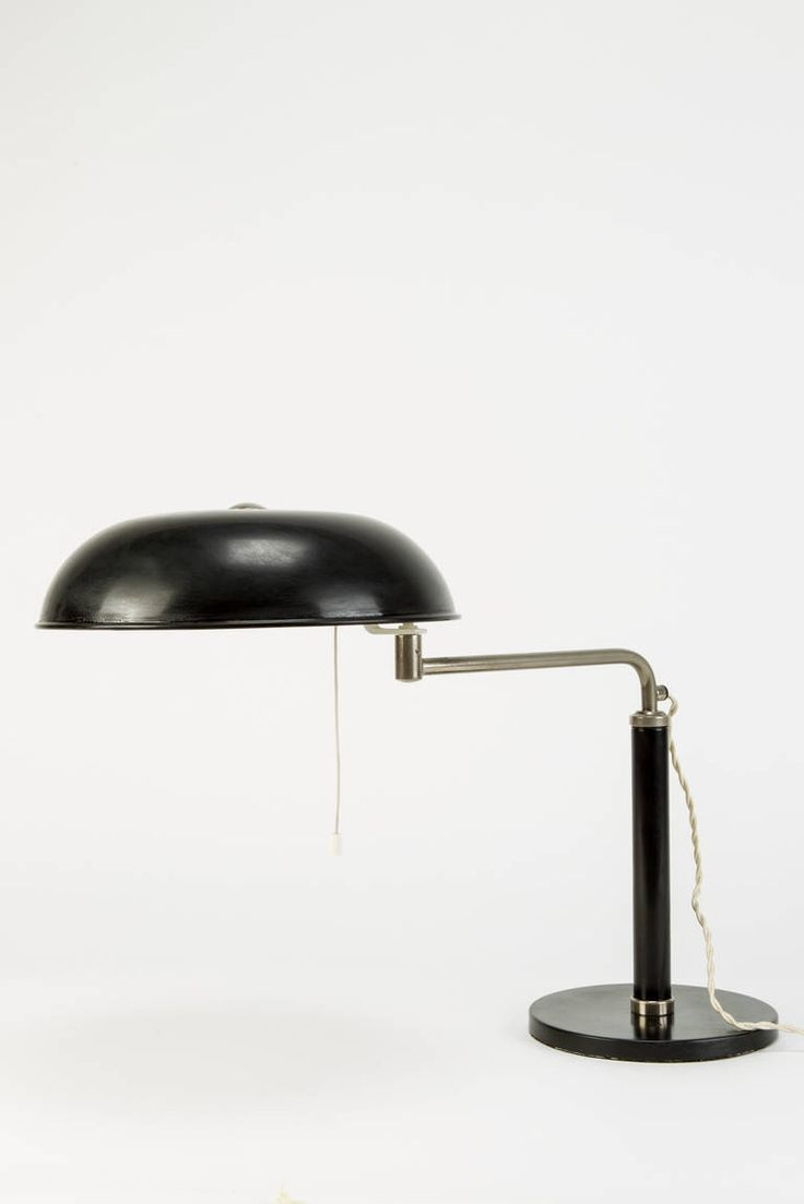 Swiss Desk Lamp by Alfred Mueller   From a unique collection of antique and modern table lamps at https://www.1stdibs.com/furniture/lighting/table-lamps/