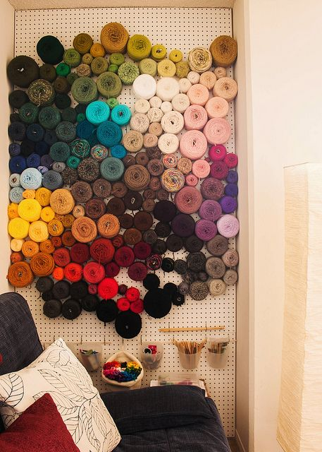 The world's best yarn storage idea | Knits for Life. I'm still skeptical that all mine would fit on that...._