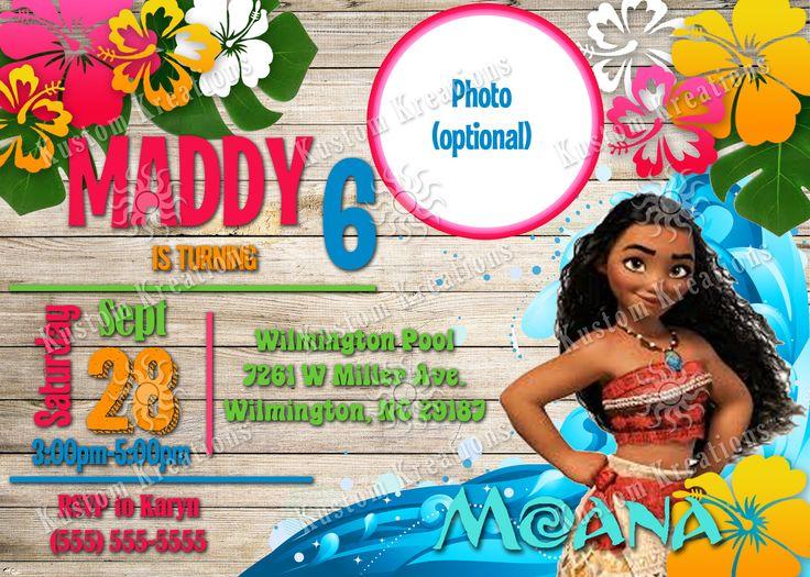 Moana birthday invitations birthdays invitation for Free moana invitations