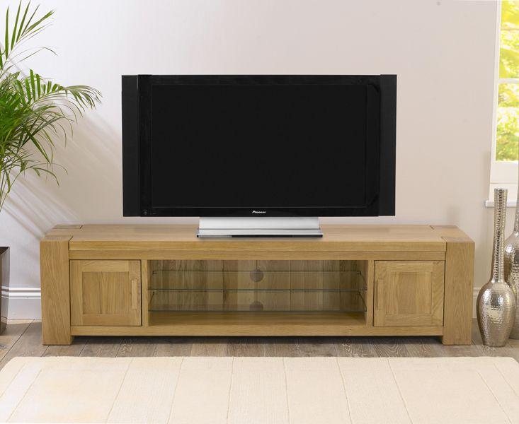 Thames 180cm Solid Oak TV Unit