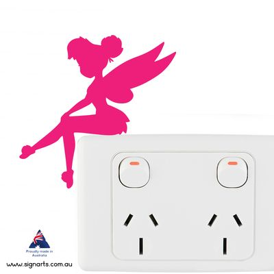4 Tinkerbell light Switch Sitters (PowerPoint Not Included)