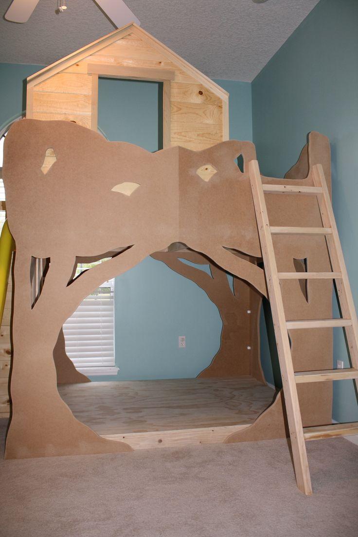 The Treehouse Loft Bed Custom Kids Bedroom Custom Bunk