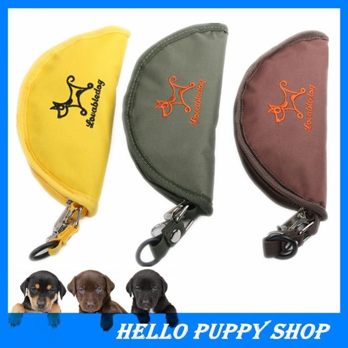 New 20CM Portable Oxford Fabric Pet Dog Cat Collapsible Foldable Travel Camping Food Water Feeder Bowl 3 Colors