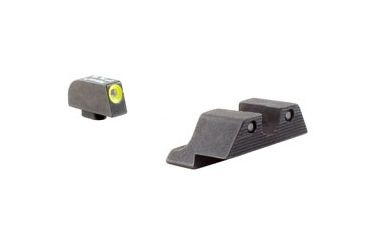 "Trijicon HD tritium night sights. $125  These came with my HK USP. They're my first set of night sights so are still kind of a novelty. Tritium nightsights glow in the dark constantly without needing ambient light to ""recharge""."