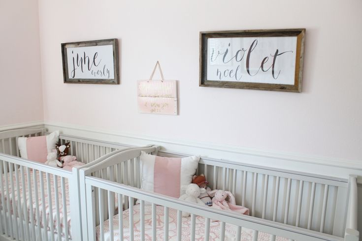 Project Nursery - Soft Pink Twin Girls Nursery with Feminine Accents