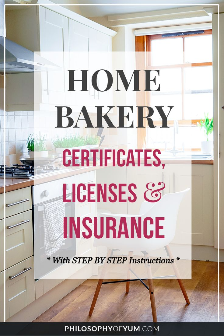 Home Bakery Business Certificates, Licenses and Insurance