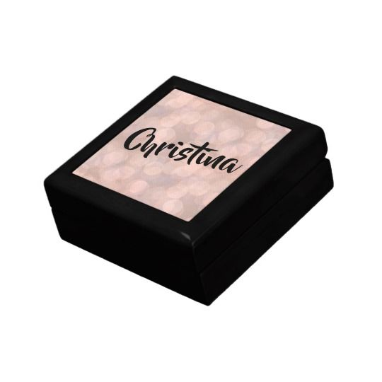 Magical Bokeh in Pink Personalized Wooden Jewelry Box