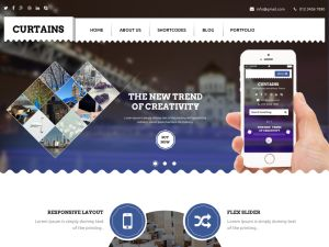 Curtains Wordpress Theme is elegantly designed clean and responsive theme. It comes with option panel and one primary widget area and 7 other widget areas. It uses skeleton grid for layout which keeps minimal css....
