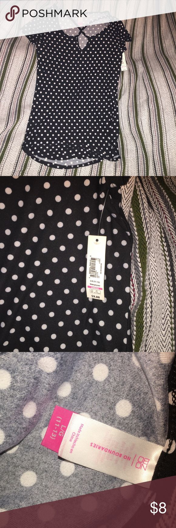 NWT! Black and white polka dot strappy top NWT! Buttery soft material, brand new, no flaws! Don't hesitate to ask questions! Tops Tees - Short Sleeve