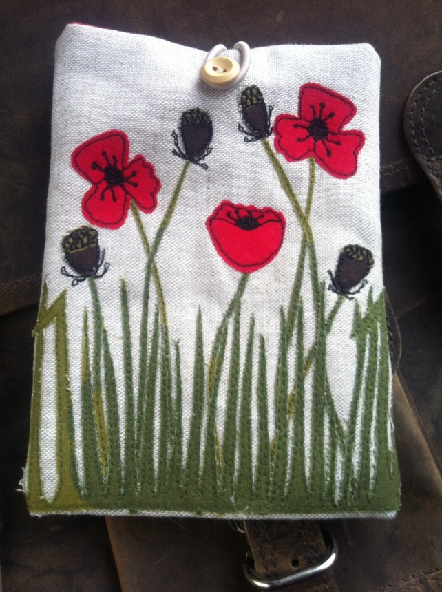 Poppy Field Embroidered Kindle Cover £16.00