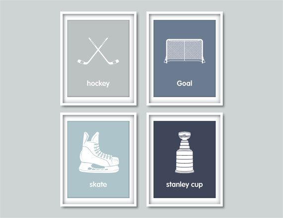 Childrenu0027s Wall Art Prints Hockey Baby Hockey Decor By Wallerbee