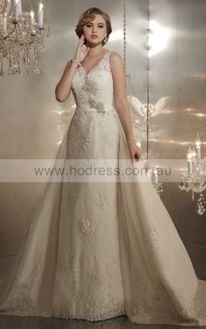 A-line Shoulder Straps Natural Sleeveless Floor-length Wedding Dresses wcs0067--Hodress