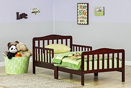 Brown Kid Bed Furniture Bedroom Kids Sleep Relax Safety Rails Mattress Children #DreamOn