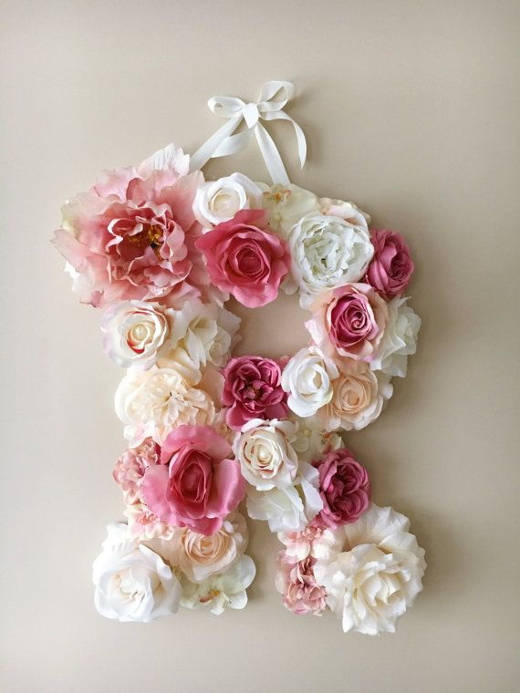 Floral Letters Wall letter Nursery flower decor / by PaulettaStore
