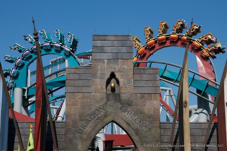 Dragon Challenge in the Wizarding World of Harry Potter at Universal Orlando's Islands of Adventure