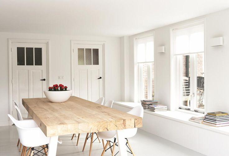 Massief eiken houten tafel type
