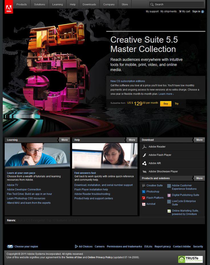 Adobe website 2011