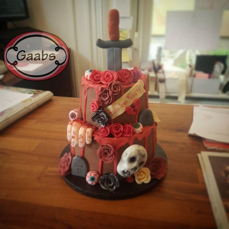 Chocolate horror cake