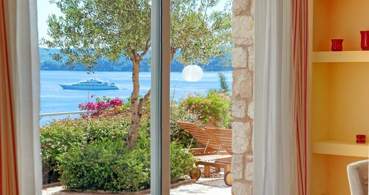"Discover Villa ""Rossa"", Corfu, Greece ! You can rent it ! #luxury #villa #rent #holidays #greece #vacances #grece #alouer #aroomwithaview #sea #bedroom #decoration #swimmingpool #beautiful #sunset #luxuryvilla"