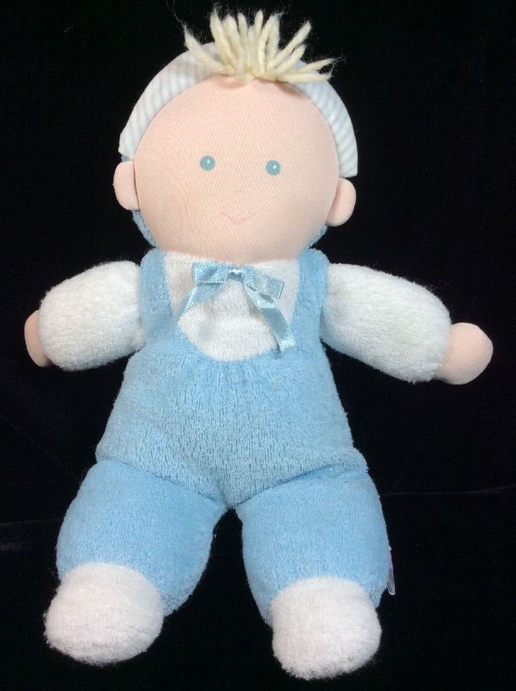 Details About Prestige Stuffed Plush Baby Girl Doll Blue