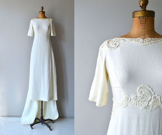 Avalon Linen Wedding Gown