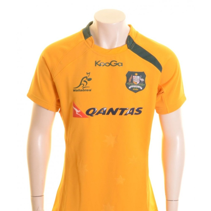 Kooga Australia Wallabies Rugby Shirt Gold and Green - £80.00 at ShopRugby.com