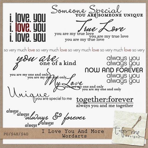 I Love You And More by t for me designs : Scrap Art Studio, Where Creativity Soars