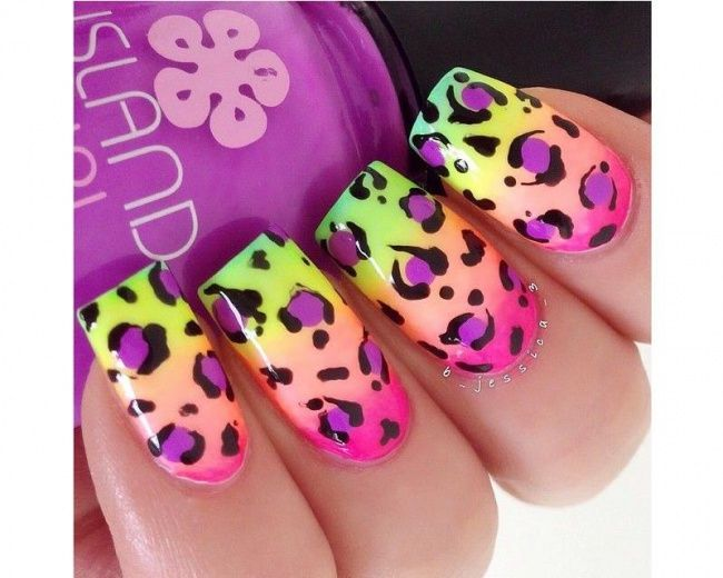 Neonowy manicure ombre - super pomysły na kolorowe paznokcie - Strona 12