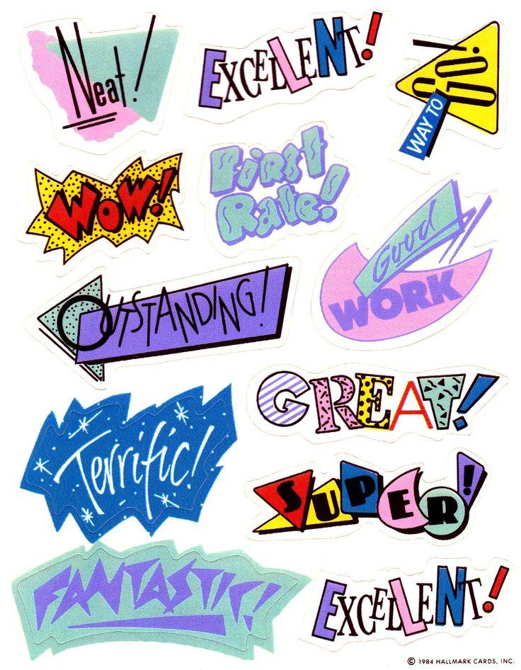 90's stickers.