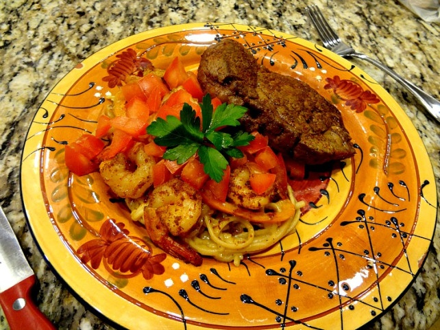 Lighter Surf and Turf Creole Pasta | Dinner! | Pinterest