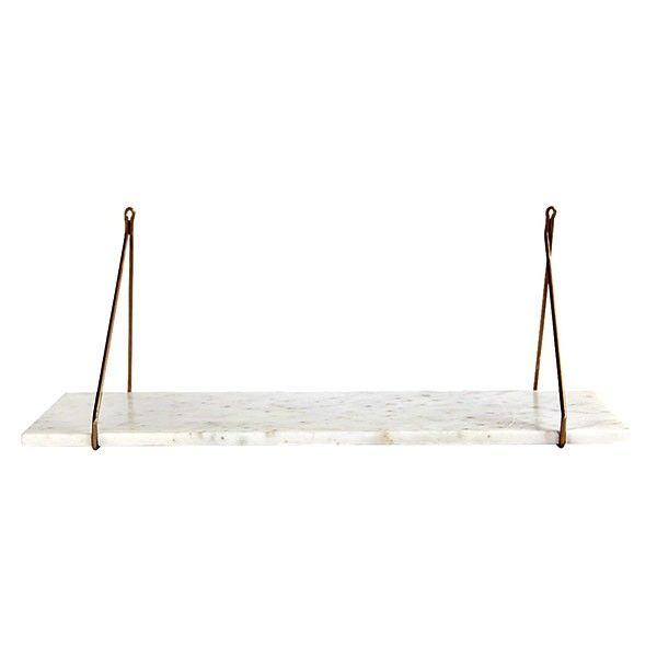 House Doctor - Hylla - Marmor och mässing 24x70 cm   dukatbord.se