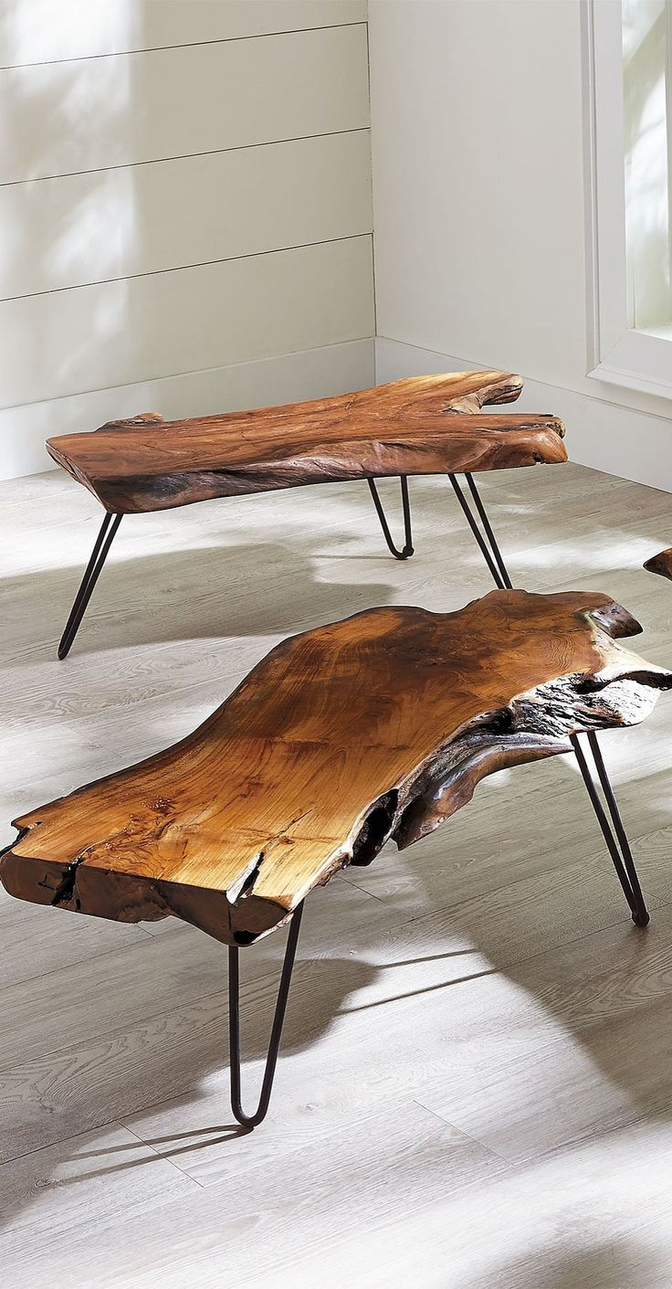 Feast your eyes on our extraordinary Teak Coffee Table. Each one is utterly unique, since it is made from a single piece of natural wood. #coffeetables