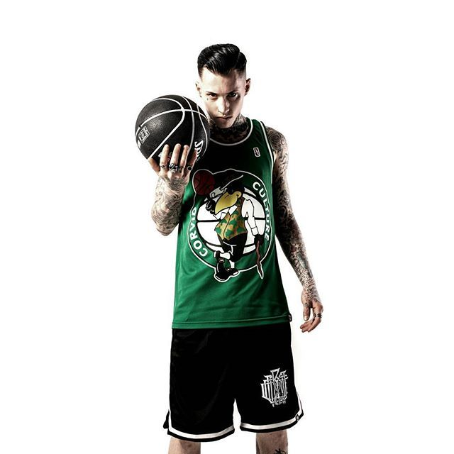 """Corvid Culture"" Basketball Tank Top & ""Monogram"" Striped Mesh Shorts Available at www.crmc-clothing.co.uk 