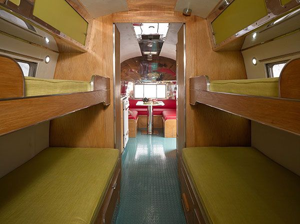 quad bunks in a retro airstream:) love the floors, also:) Forget the airstream put this in a bus!