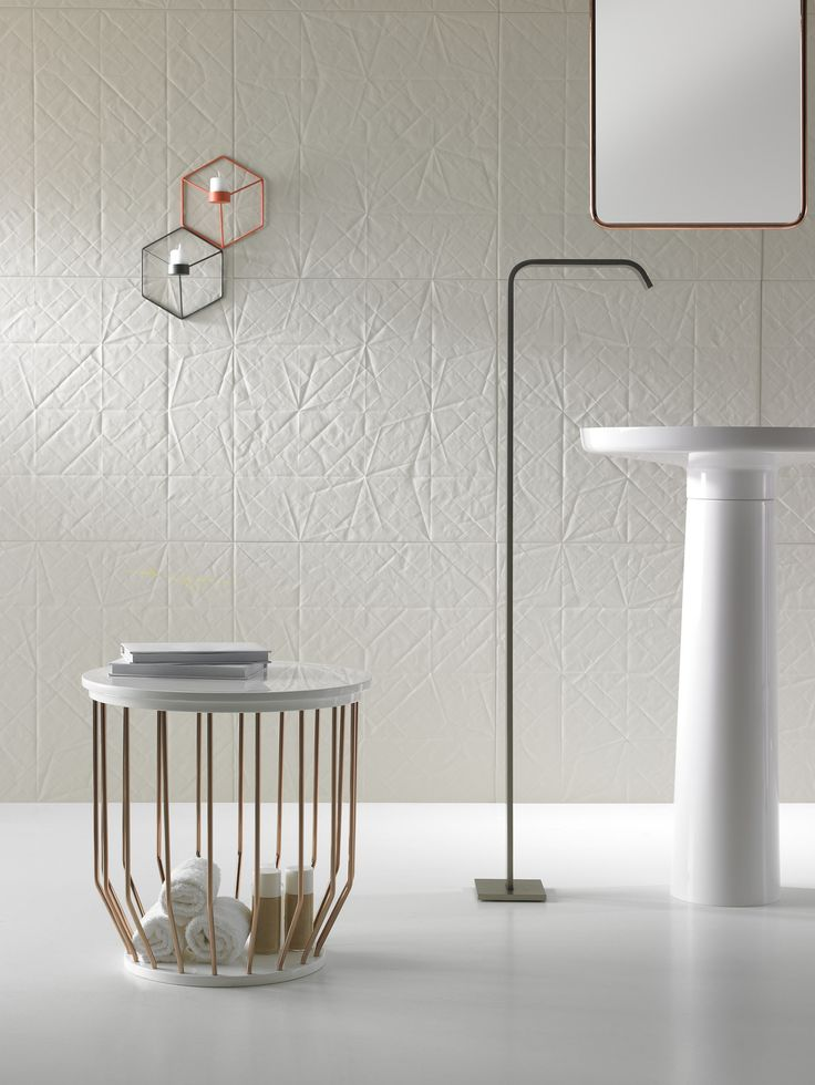 Pedestal Ceramilux® washbasin Bowl Collection by @inbani  | design Arik Levy