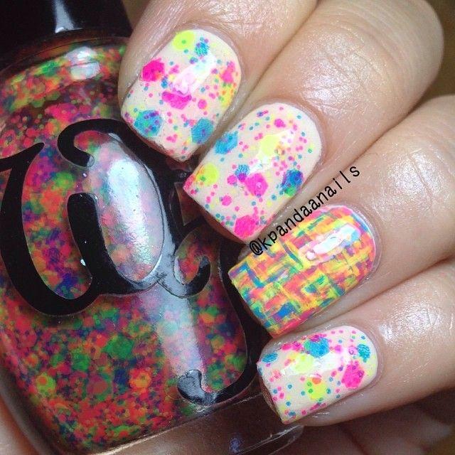 regenboog kleuren op je nagels