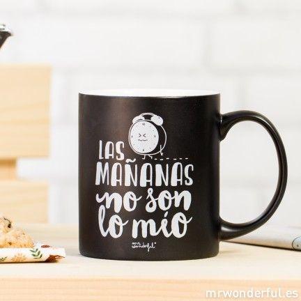 """Taza """"Las mañanas no son lo mío"""" #mug #tazas #mrwonderfulshop"""