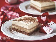 Vianočné rezy -  Na prípravu karamelového mlieka do kastrólika nasypeme cukor amiešame dokiaľ sa cukor neroztaví (skaramelizuje). Pridáme...