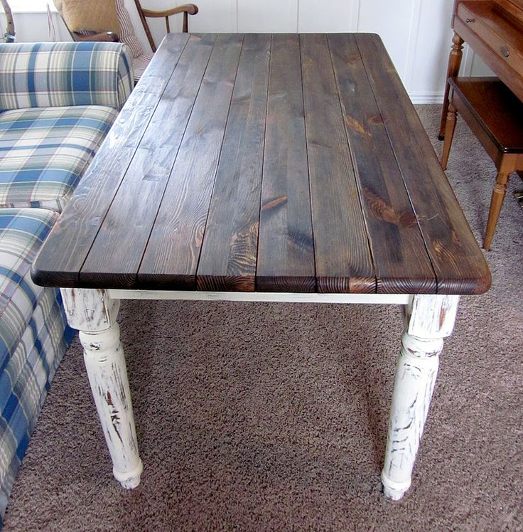 shab by chic dinning tables | Shabby Chic Refinished Dining Table