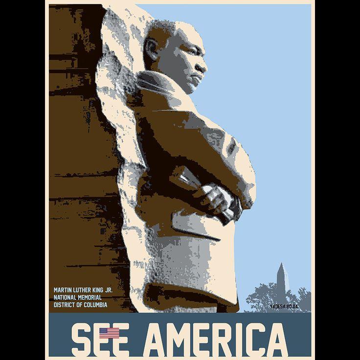 Martin Luther King, Jr. Memorial by Yadesa Bojia  #SeeAmericaMlk, Healing Racism, Martin Luther King, Yadesa Bojia, Bygones Era, Bojia Seeamerica, Inspiration History, King Jr, Favorite People