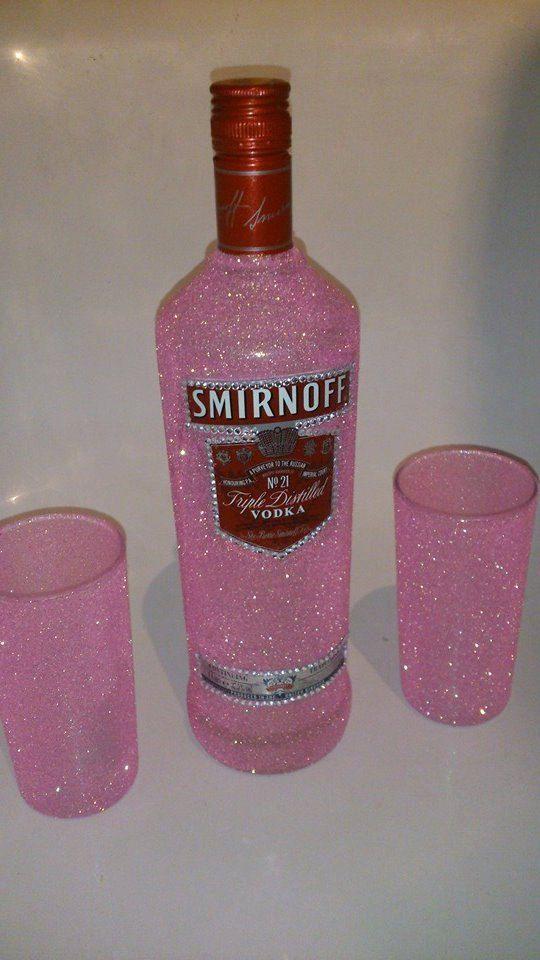 25 best liquor bottle cake ideas on pinterest decorated for How to glitter wine bottles
