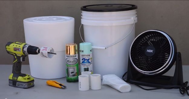 Here's what you need: | Here's How To Make A DIY Air Conditioner That Will Actually Keep You Cool