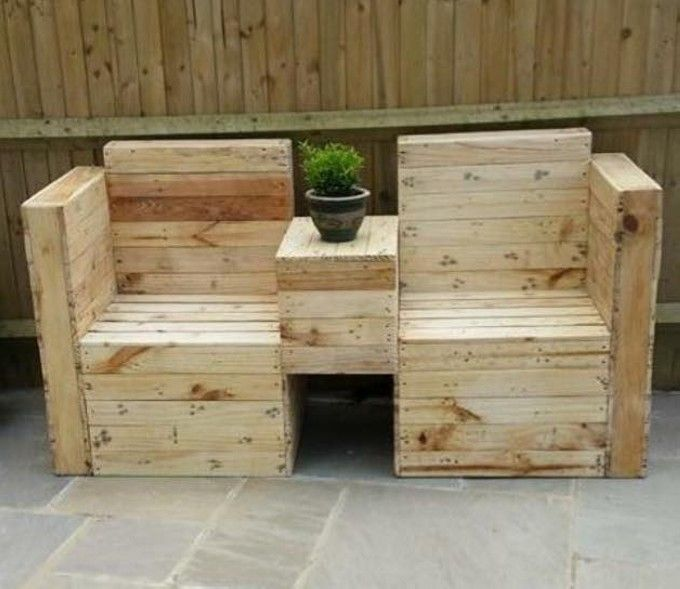 repurposed pallets outdoor furniture - Google Search