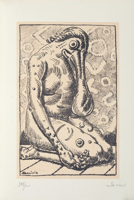 ALBERTO SAVINIO (1891 - 1952), La nostra Anima, 1944, Litografia