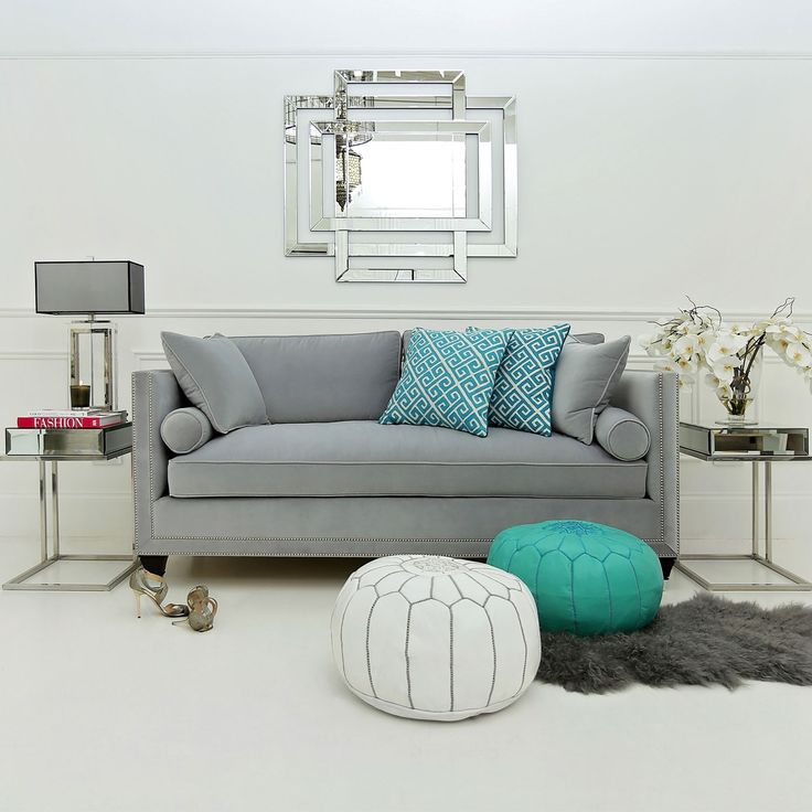 Tufted Sofa This is a truly luscious luxury velvet designer sofa It has one large deeply plush seat cushion two plump back cushions two feather filled bolsters